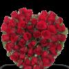 Cuore di 50 Rose Rosse per funerale