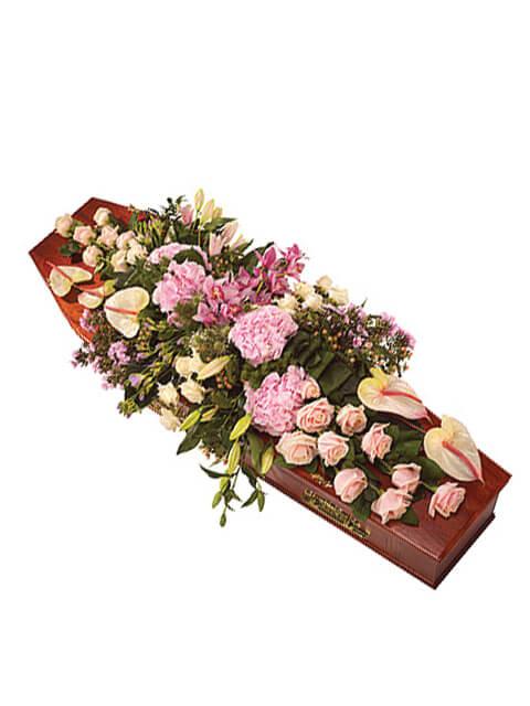 copribara lilium anthurium e rose