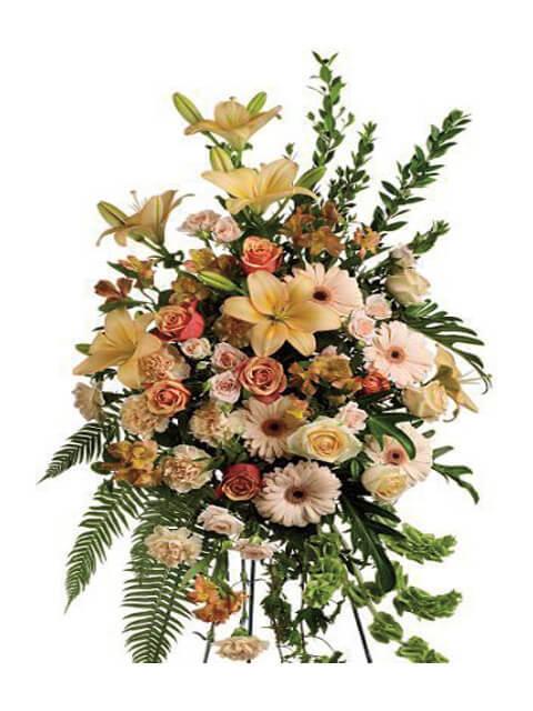 cuscino funebre di fiori misti
