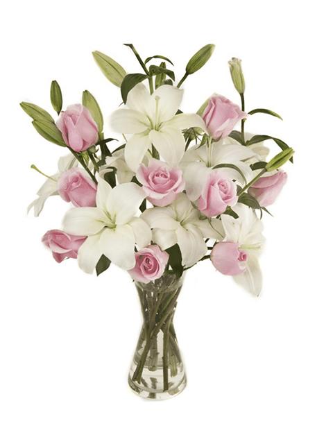 Bouquet di Gigli e Rose per funerale